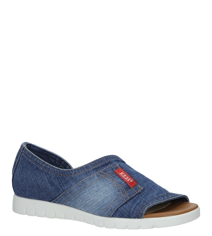 Niebieskie jeansowe sandały na białej podeszwie Jezzi SA110-1 niebieski