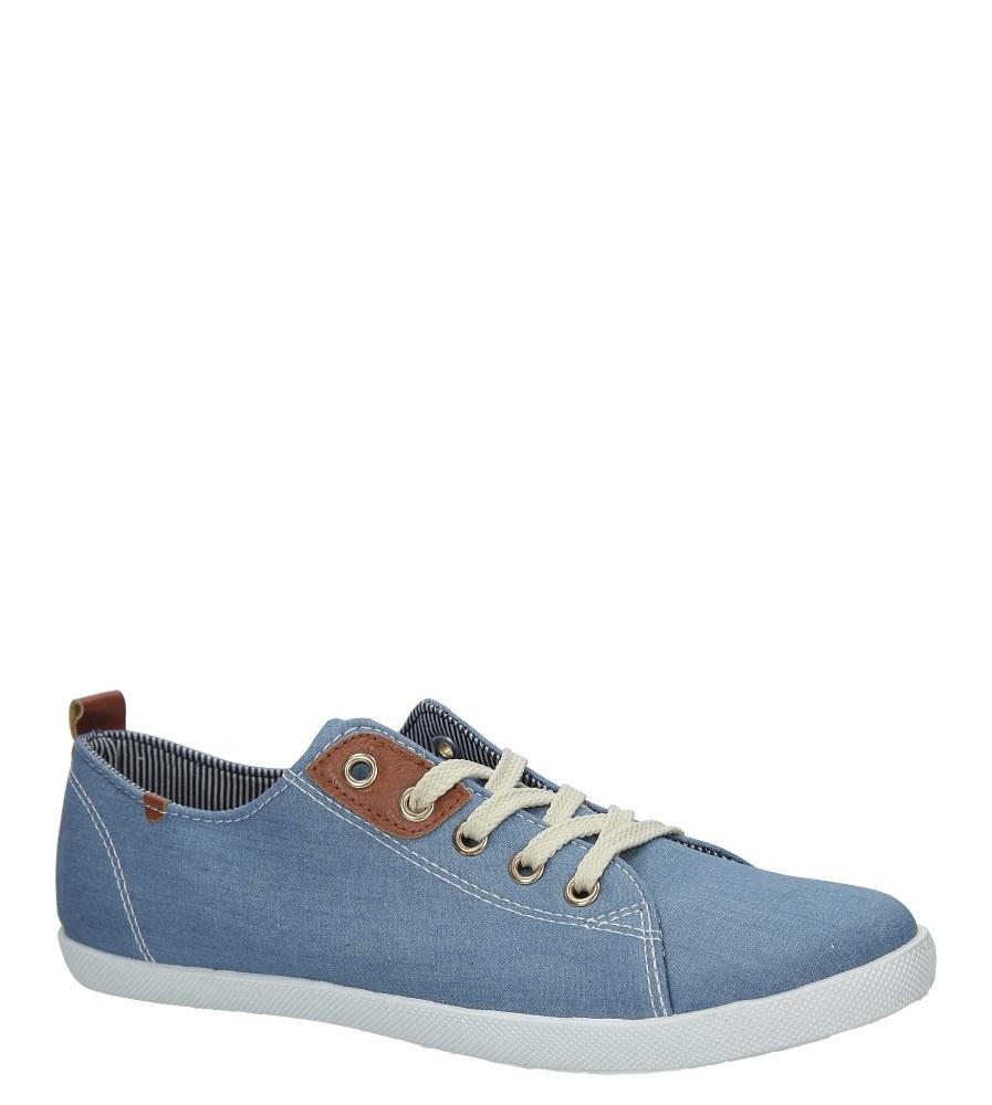 Niebieskie jeansowe tenisówki sznurowane Casu DD129B-9