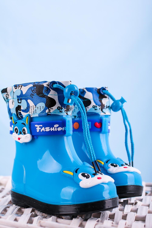 Niebieskie kalosze ocieplane ze ściągaczem Casu HM19-5 niebieski