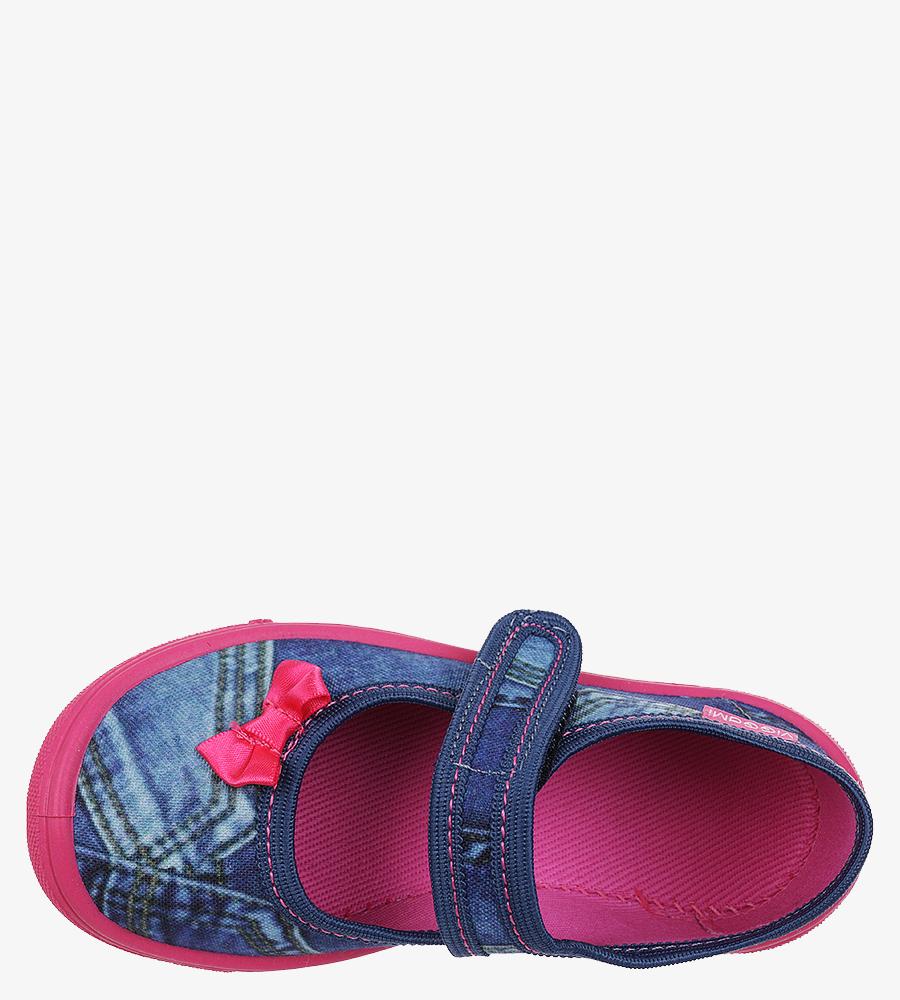 Niebieskie kapcie Vi-GGa-Mi na rzep Justyna jeans