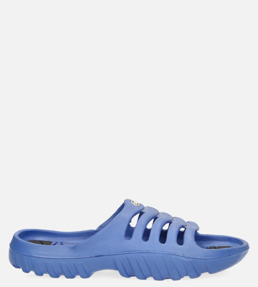 Niebieskie klapki basenowe Casu 918B ciemny niebieski