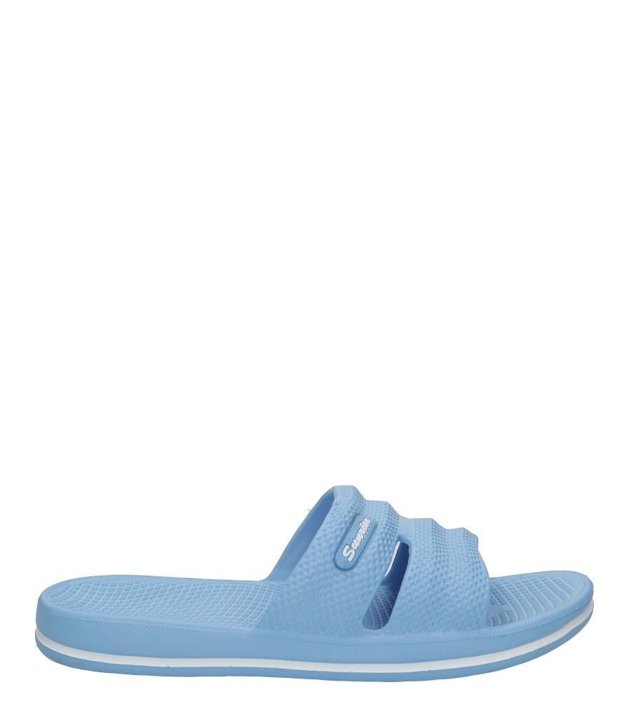 Niebieskie klapki Casu 809
