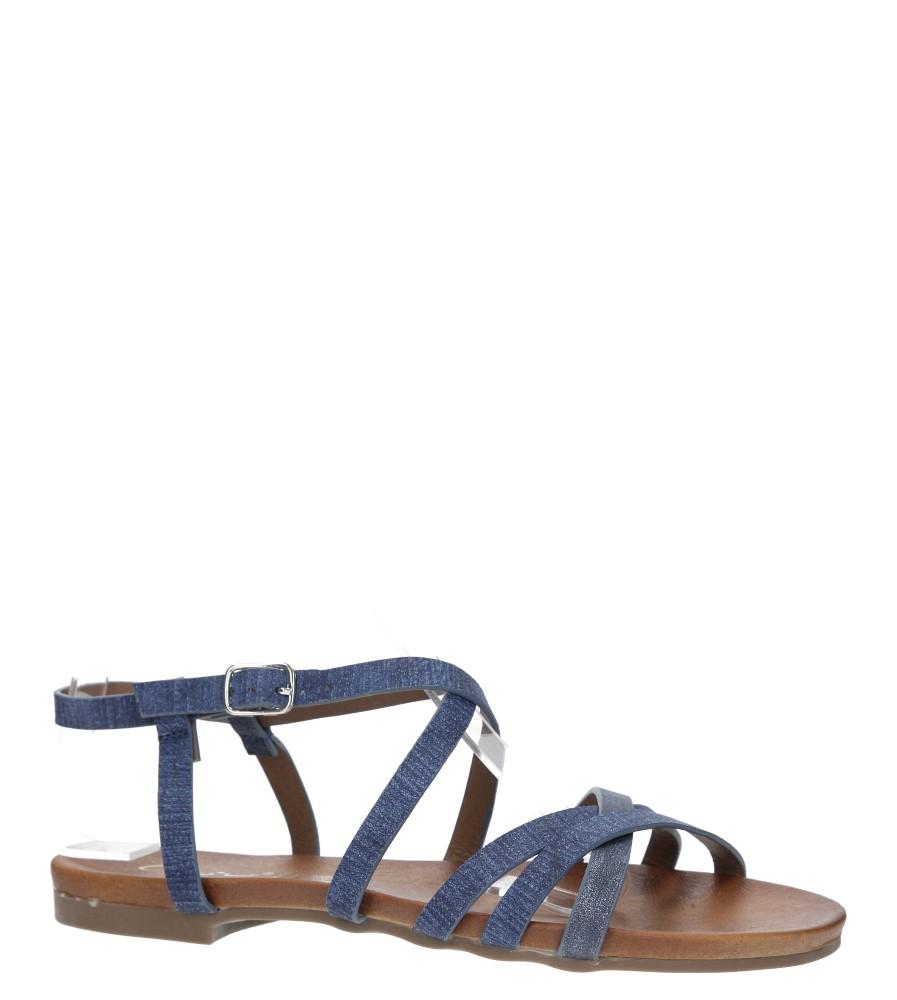Niebieskie lekkie sandały płaskie z paskami trzymającymi stopę Casu K18X4/BL producent Casu
