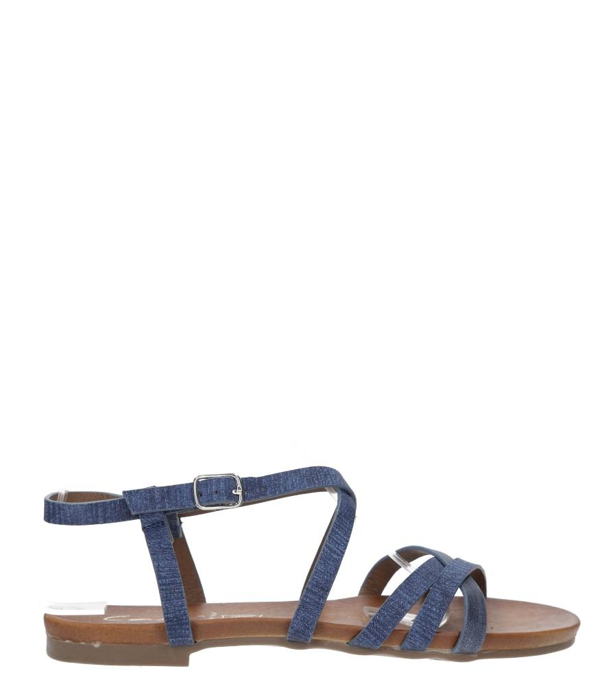 Niebieskie lekkie sandały płaskie z paskami trzymającymi stopę Casu K18X4/BL sezon Lato