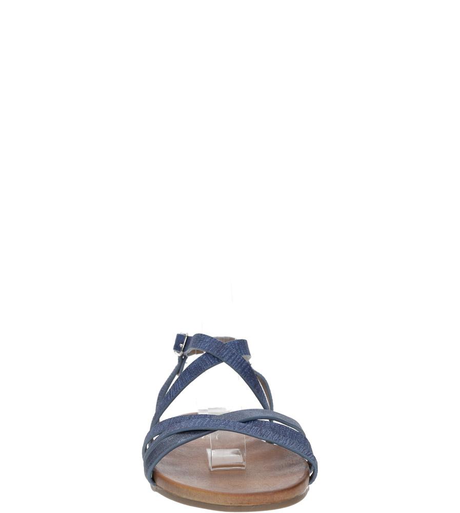 Niebieskie lekkie sandały płaskie z paskami trzymającymi stopę Casu K18X4/BL kolor niebieski