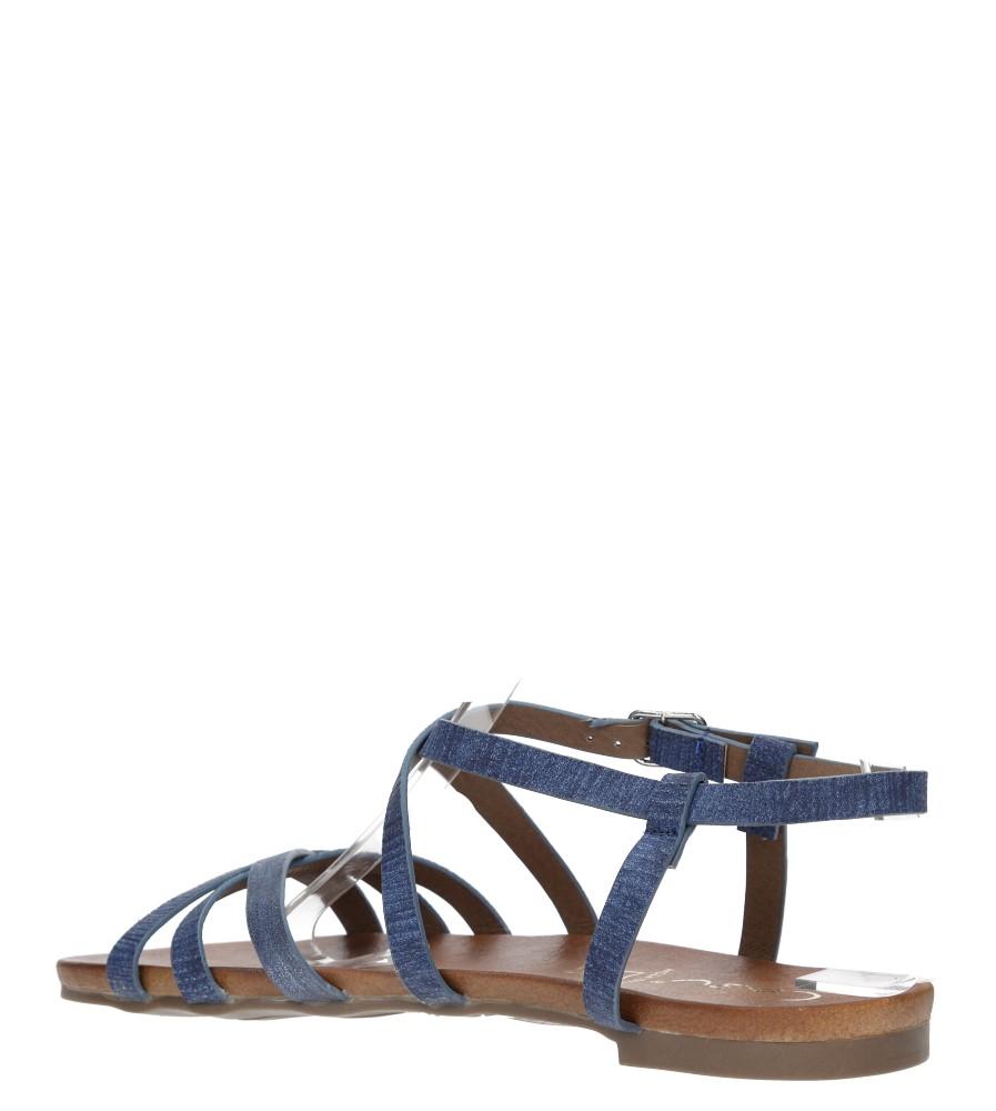 Niebieskie lekkie sandały płaskie z paskami trzymającymi stopę Casu K18X4/BL wysokosc_obcasa 2 cm