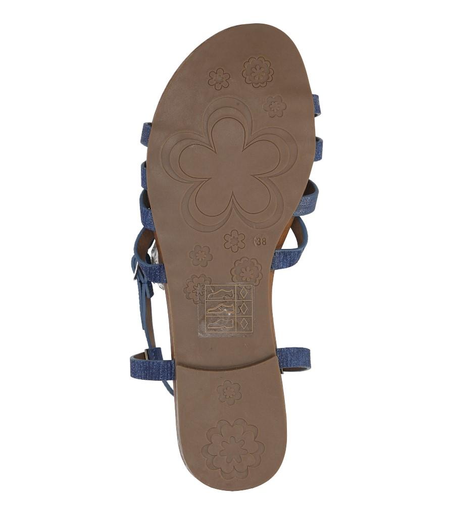 Niebieskie lekkie sandały płaskie z paskami trzymającymi stopę Casu K18X4/BL wys_calkowita_buta 7 cm