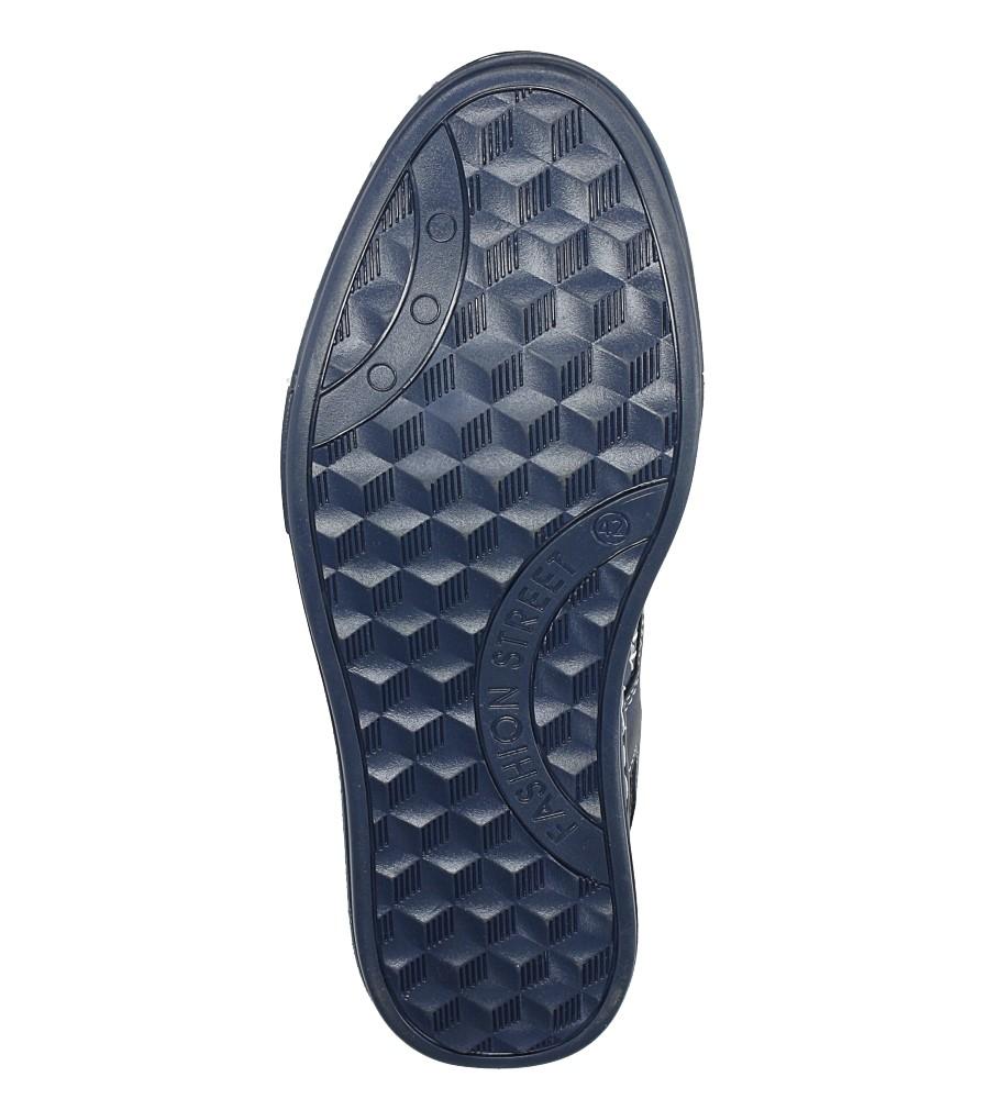 Niebieskie półbuty skórzane sznurowane Casu J-44/BLU/140 wys_calkowita_buta 10.5 cm