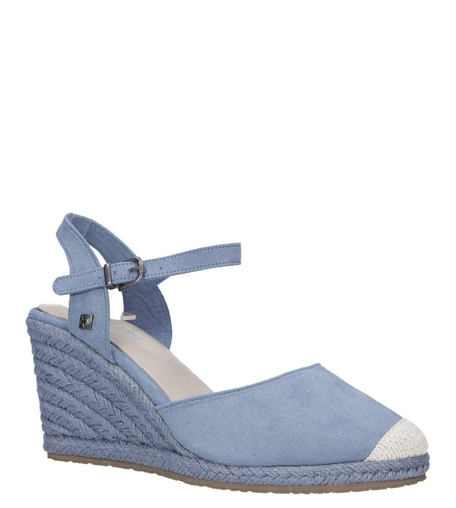 Niebieskie sandały espadryle na koturnie z zakrytymi palcami Big Star DD274A170 jasny niebieski