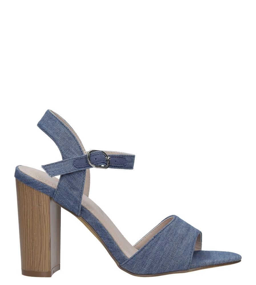 28f93b0c8fc61 ... Niebieskie sandały jeansowe na słupku Jezzi 8SD35-0333 sezon Lato ...