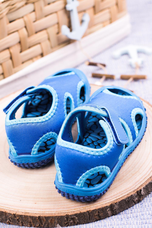 Niebieskie sandały na rzep Casu JF21 niebieski