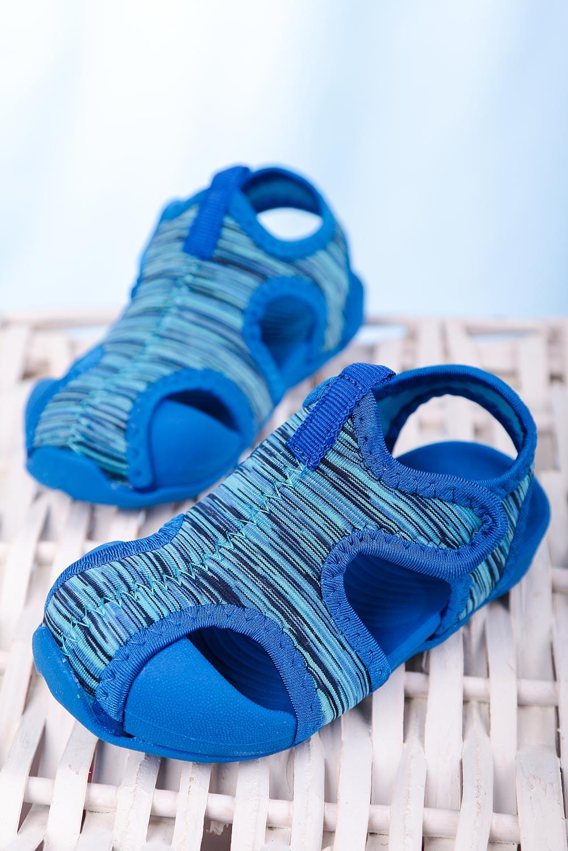 Niebieskie sandały na rzep Casu LA108 niebieski