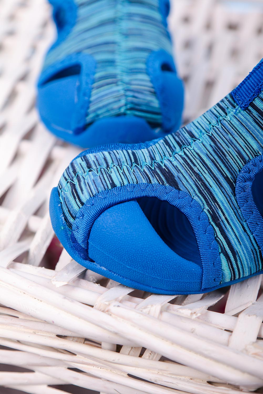 Niebieskie sandały na rzep Casu LA109 niebieski