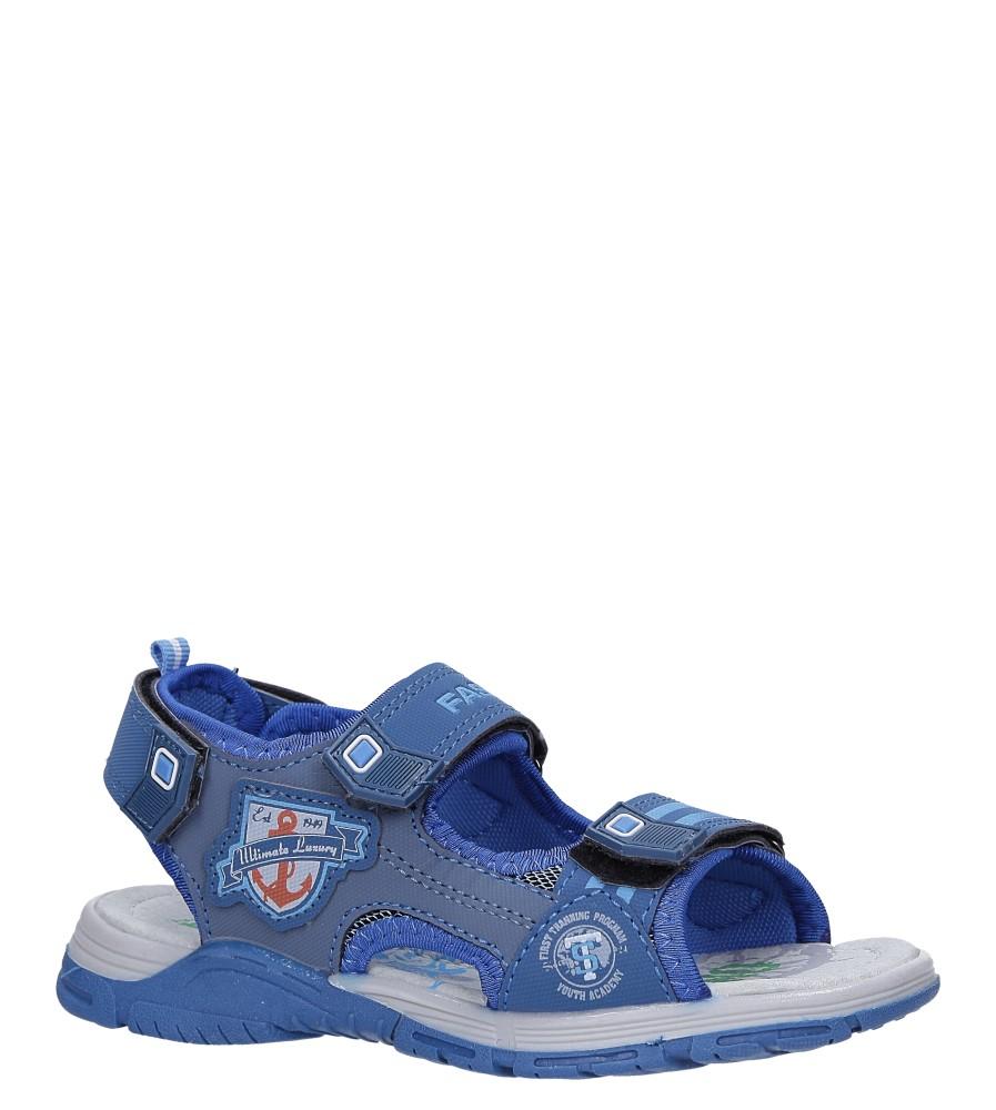 Niebieskie sandały na rzepy Casu JF02 producent Casu