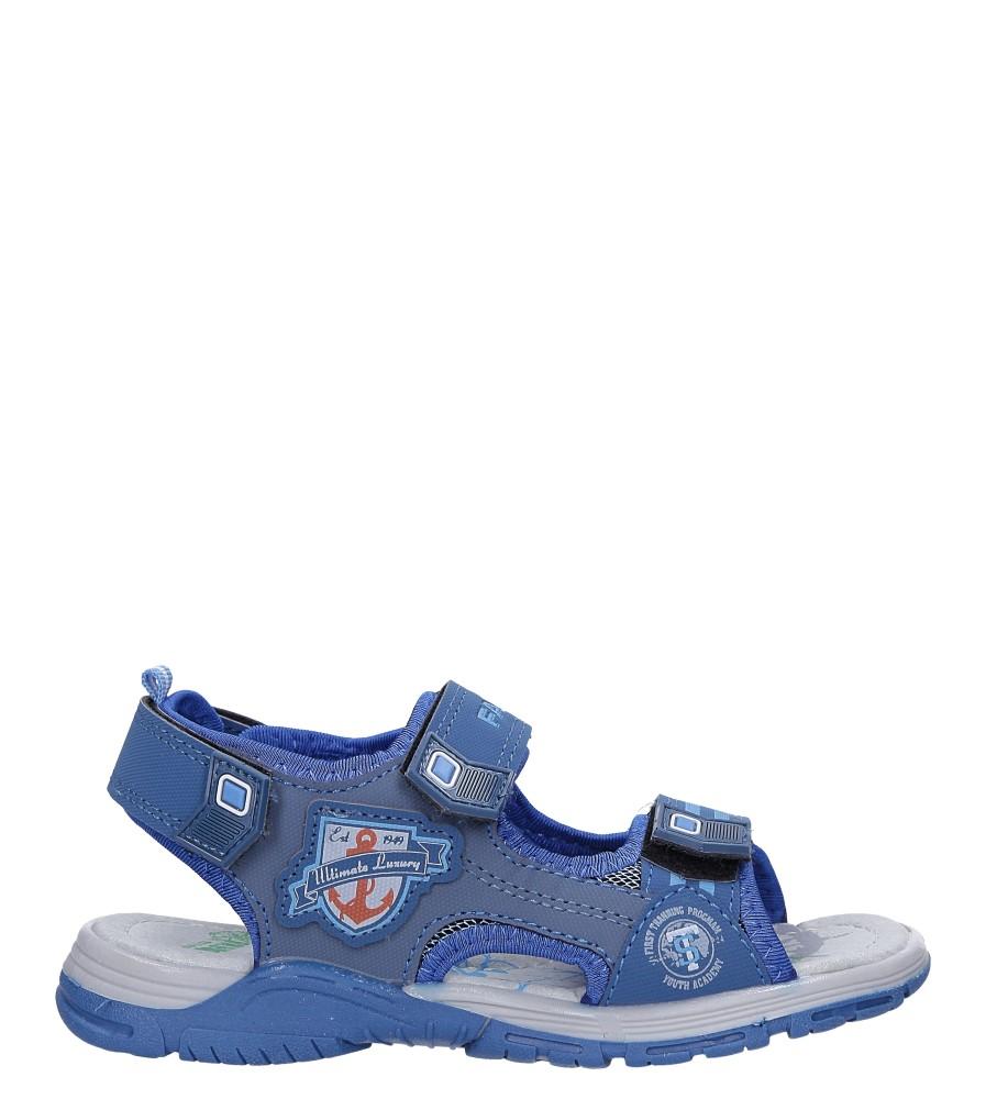 Niebieskie sandały na rzepy Casu JF02