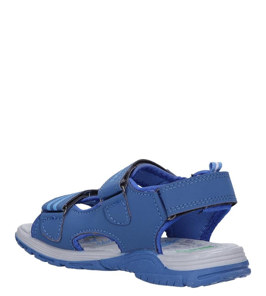 Niebieskie sandały na rzepy Casu JF02 sezon Lato