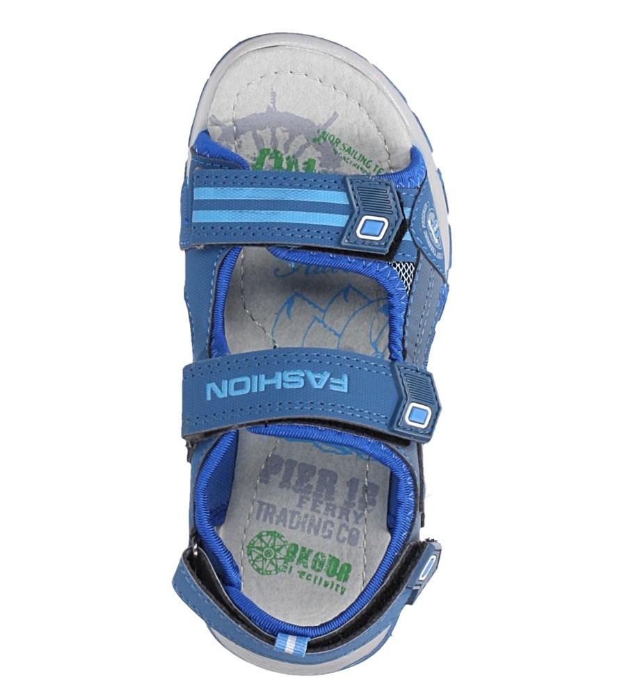 Niebieskie sandały na rzepy Casu JF02 kolor niebieski