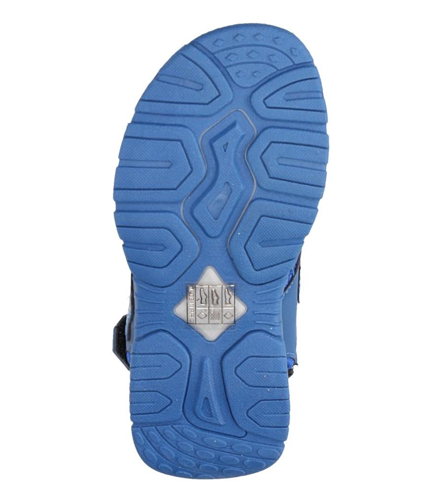 Niebieskie sandały na rzepy Casu JF02 wysokosc_platformy 1 cm