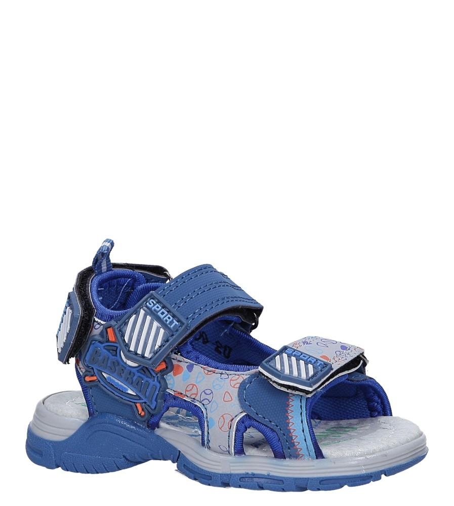 Niebieskie sandały na rzepy Casu LA80 producent Casu