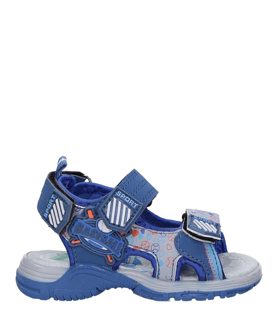 Niebieskie sandały na rzepy Casu LA80