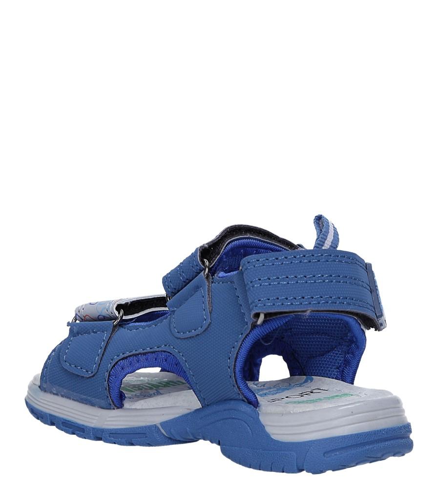 Niebieskie sandały na rzepy Casu LA80 sezon Lato