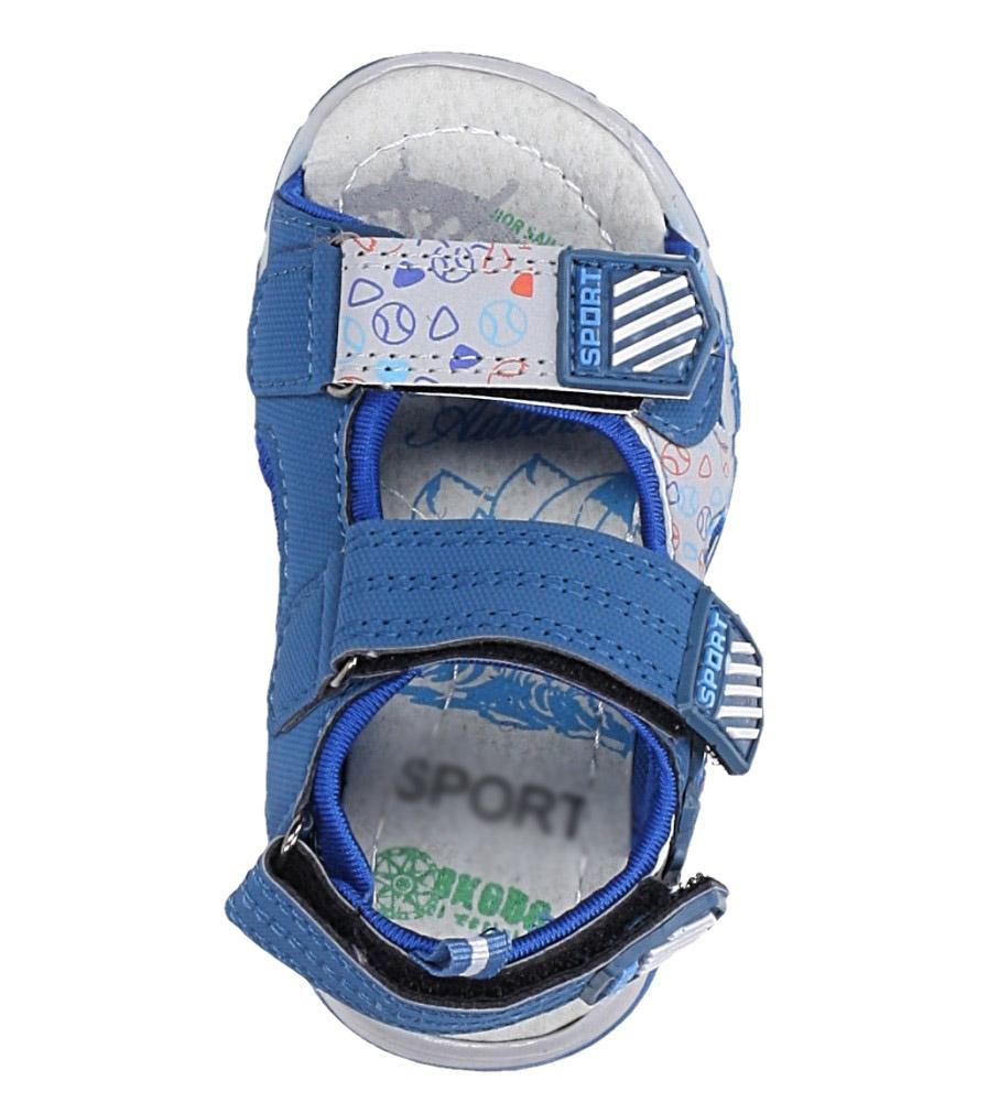 Niebieskie sandały na rzepy Casu LA80 kolor ciemny niebieski