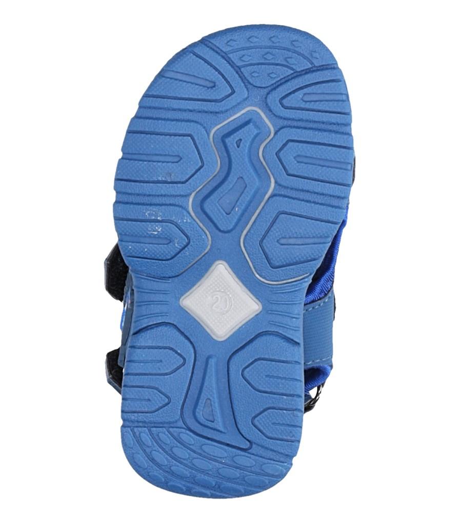 Niebieskie sandały na rzepy Casu LA80 wysokosc_platformy 1 cm
