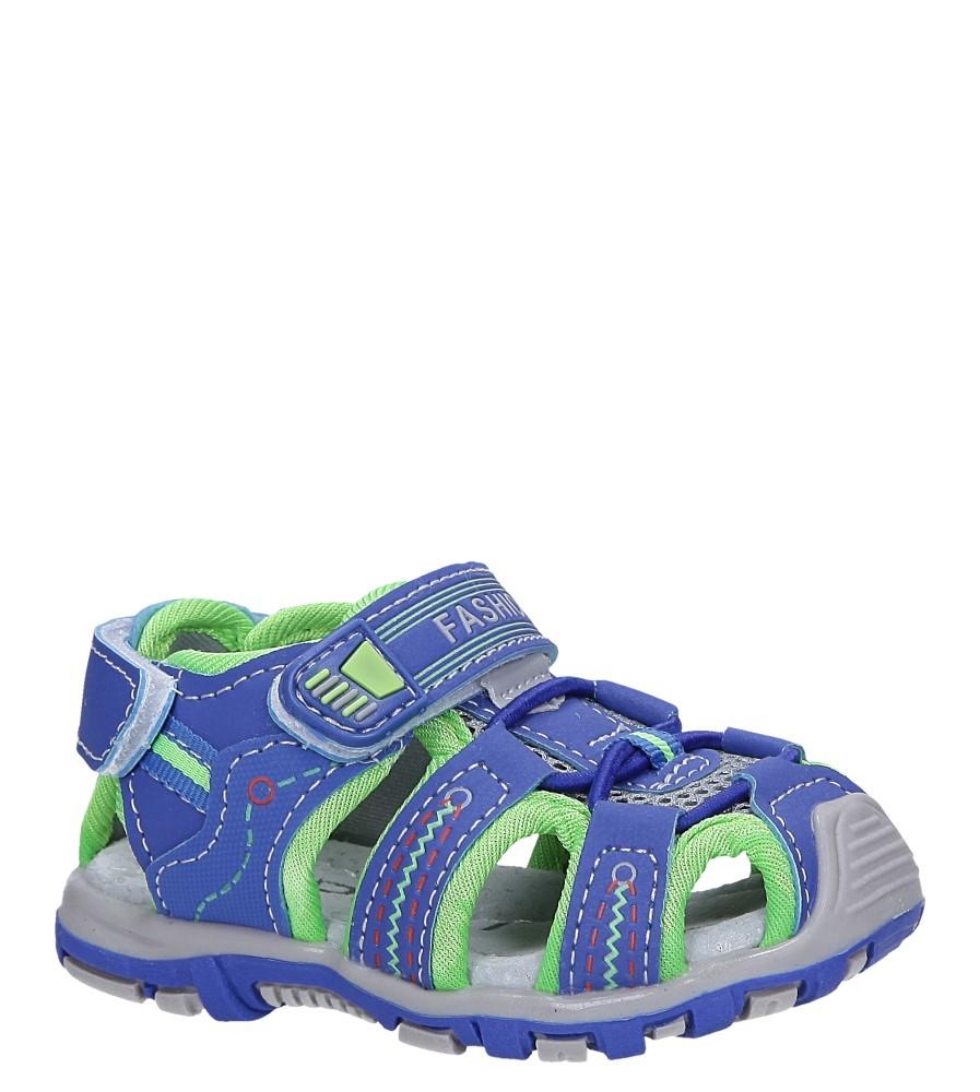 Niebieskie sandały na rzepy Casu LA89