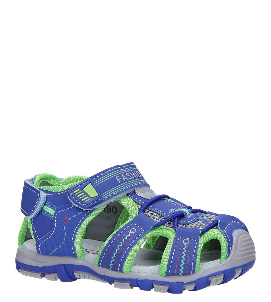 Niebieskie sandały na rzepy Casu LA90 producent Casu