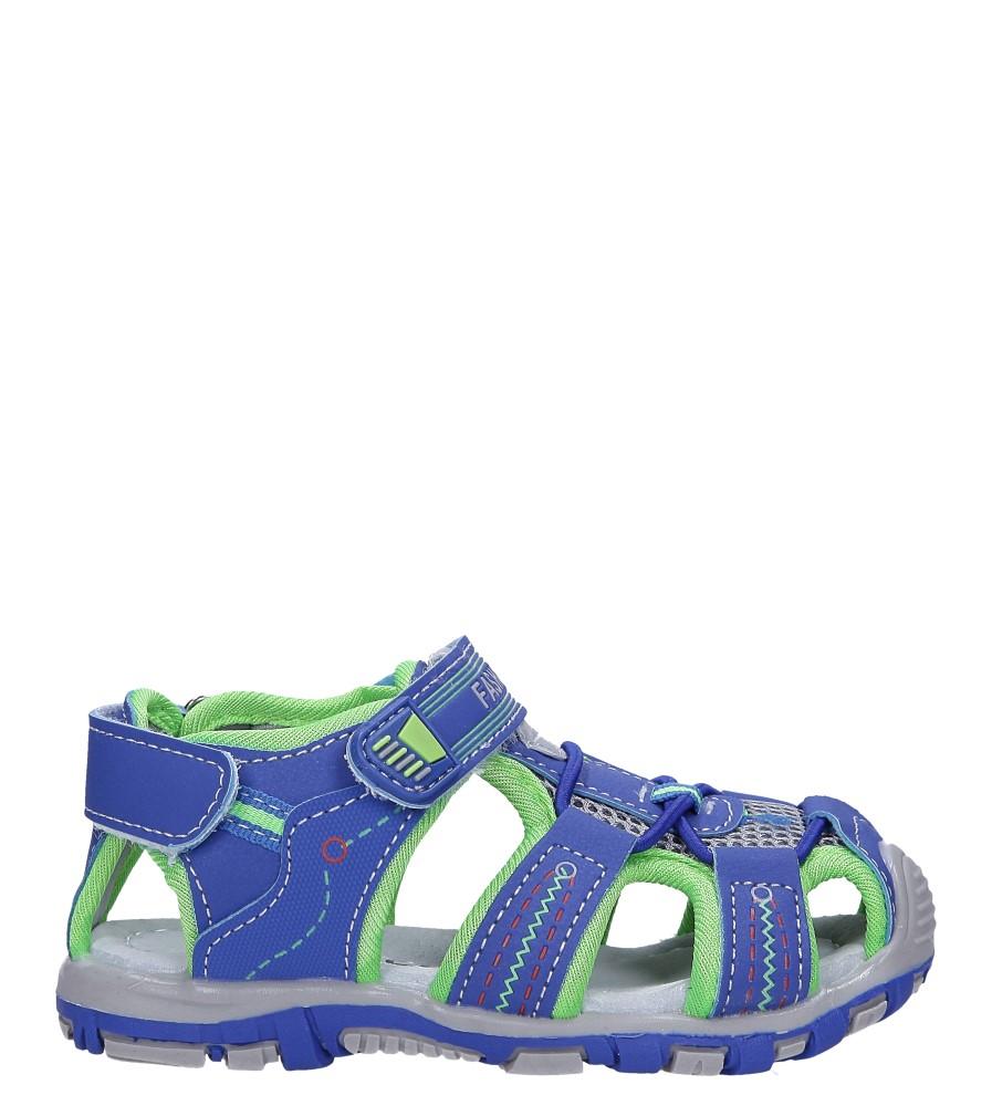 Niebieskie sandały na rzepy Casu LA90