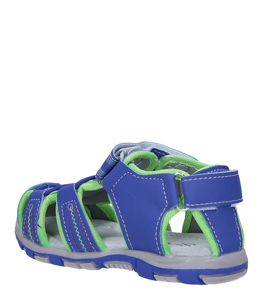 Niebieskie sandały na rzepy Casu LA90 sezon Lato