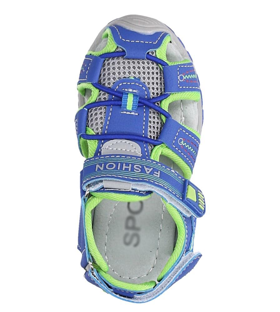 Niebieskie sandały na rzepy Casu LA90 kolor niebieski, zielony