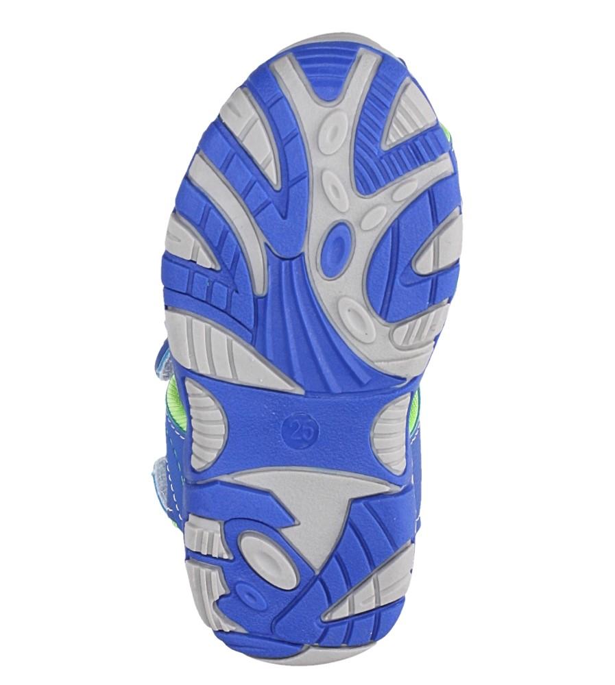 Niebieskie sandały na rzepy Casu LA90 wysokosc_platformy 1.5 cm