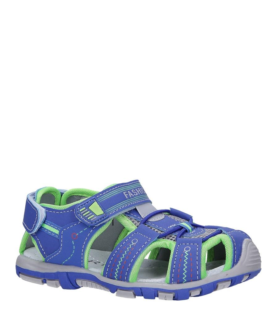 Niebieskie sandały na rzepy Casu LA91