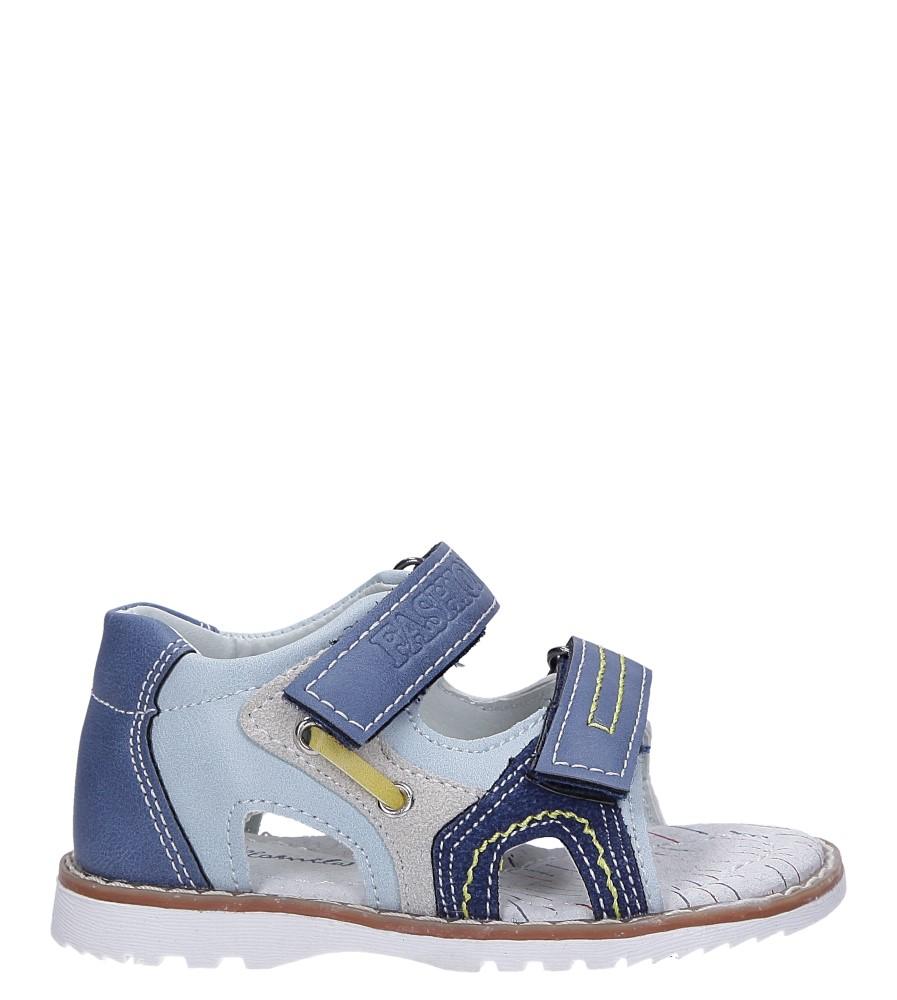 Niebieskie sandały na rzepy ze skórzaną wkładką Casu YF-325