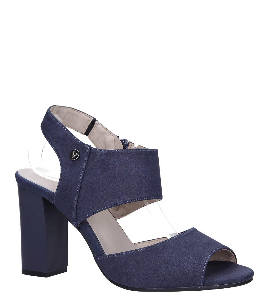 Niebieskie sandały na słupku ze skórzaną wkładką Jezzi ASA109-10