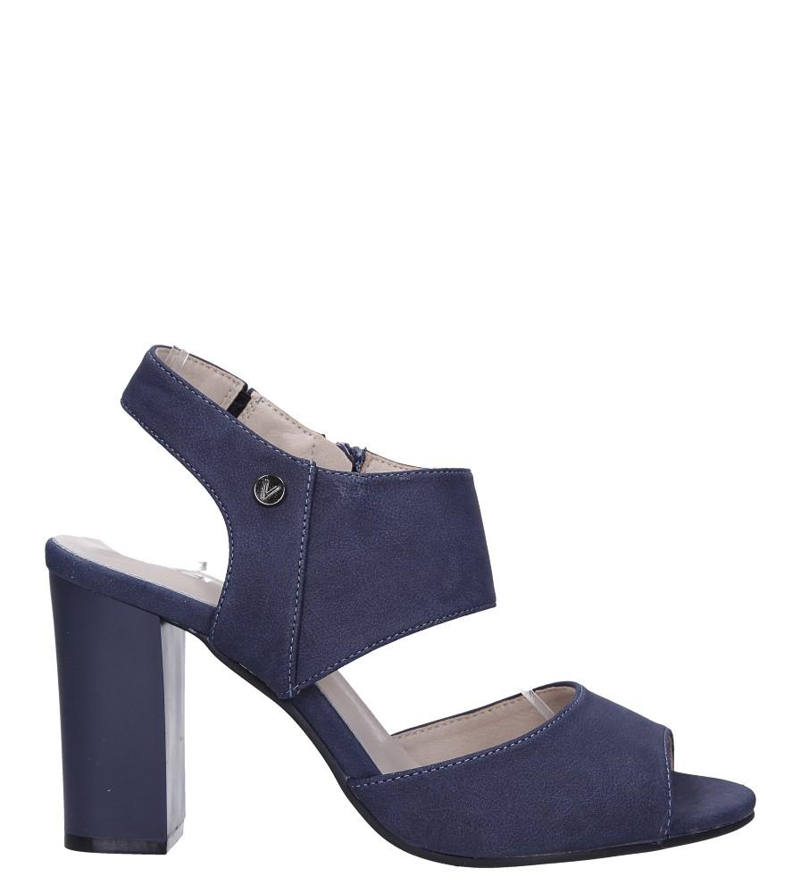 Niebieskie sandały na słupku ze skórzaną wkładką Jezzi ASA109-10 wysokosc_platformy 1 cm