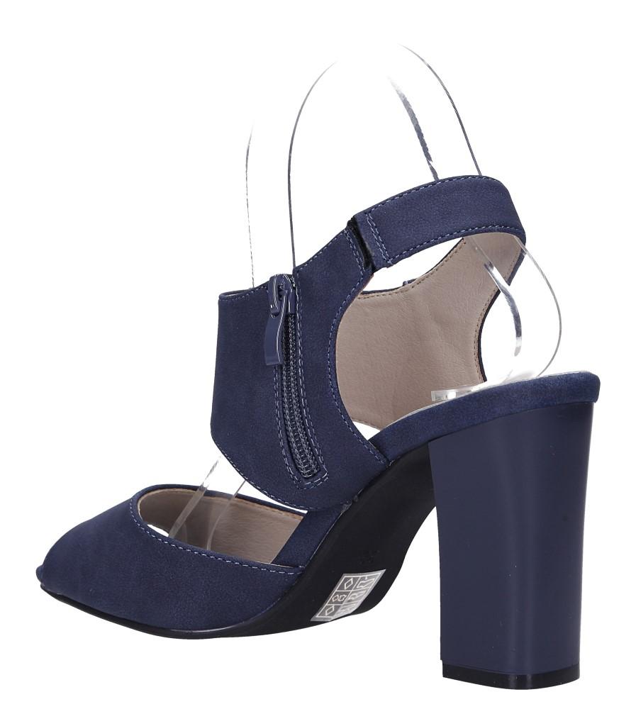 Niebieskie sandały na słupku ze skórzaną wkładką Jezzi ASA109-10 wys_calkowita_buta 16 cm