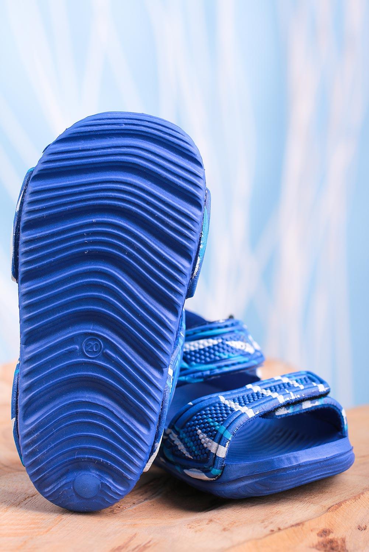 Niebieskie sandały niemowlęce niechodki na rzepy Casu 6320-1