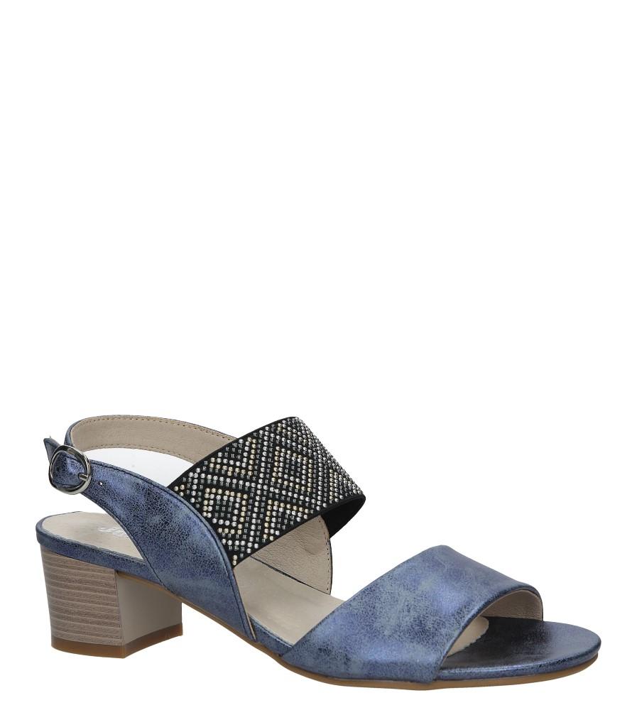 Niebieskie sandały z nitami  na niskim obcasie Jezzi SA119-3