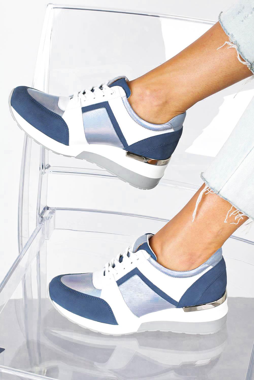 Niebieskie sneakersy Kati buty sportowe sznurowane 7049