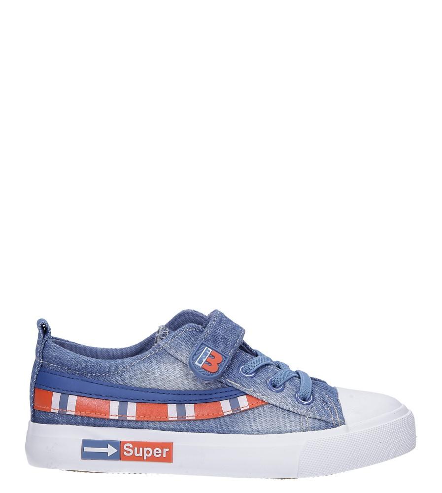 Niebieskie trampki jeansowe Casu A6055