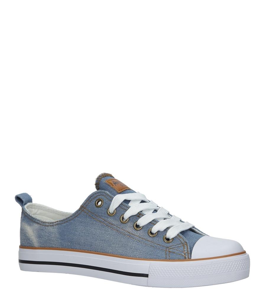 Niebieskie trampki jeansowe sznurowane American LH-18-DSLN-3/4