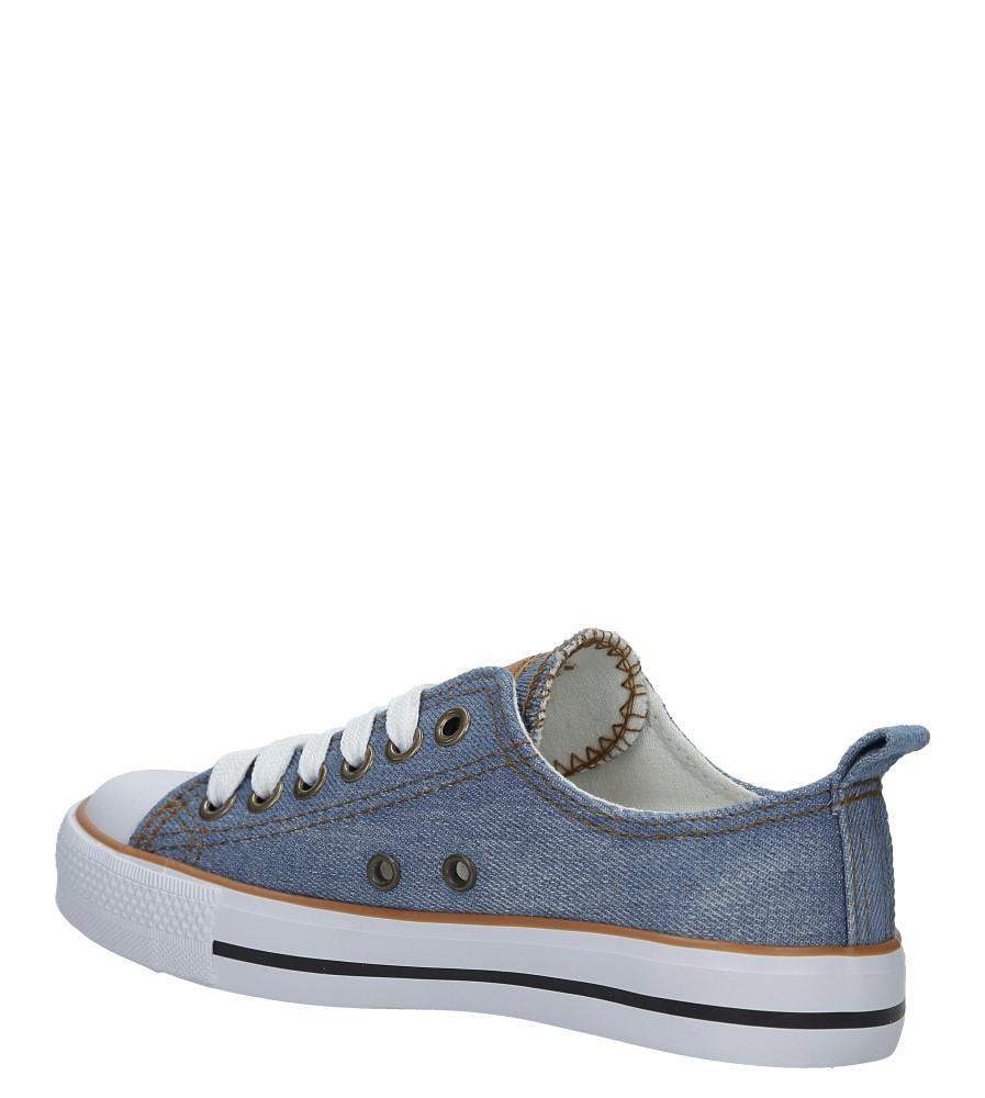 Niebieskie trampki jeansowe sznurowane American LH-18-DSLN-3/4 kolor jasny niebieski