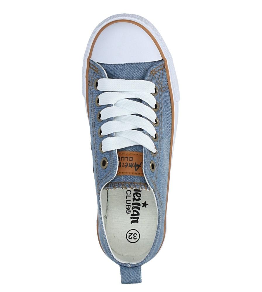 Niebieskie trampki jeansowe sznurowane American LH-18-DSLN-3/4 wysokosc_platformy 2.5 cm