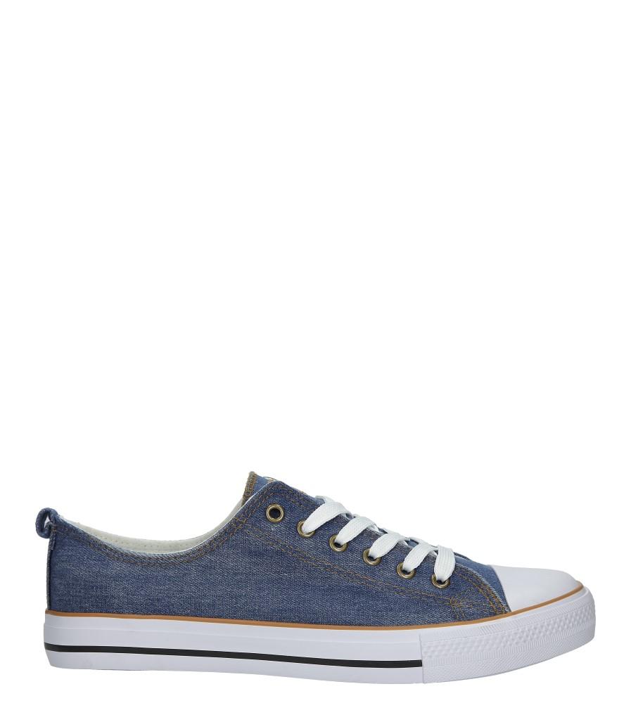 Niebieskie trampki jeansowe sznurowane American LH-18-DSLN-JEANS-3/4