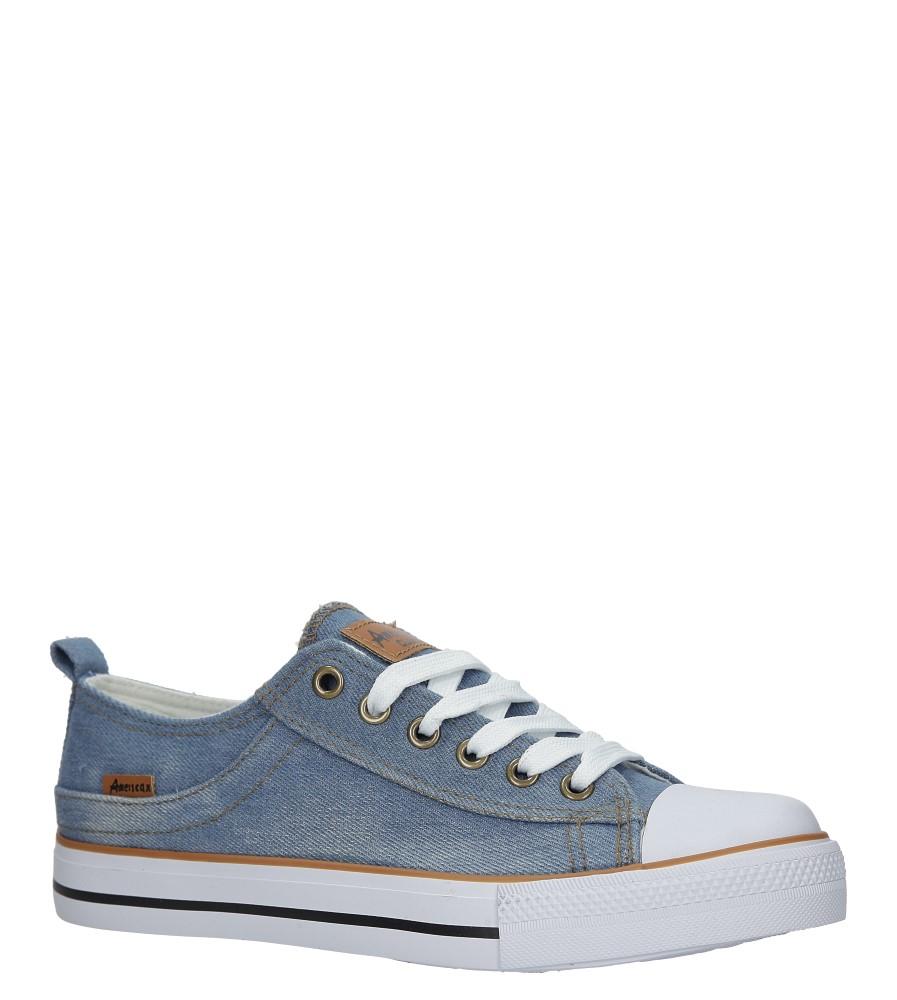Niebieskie trampki jeansowe sznurowane American LH-18-NJ03/04 jasny niebieski