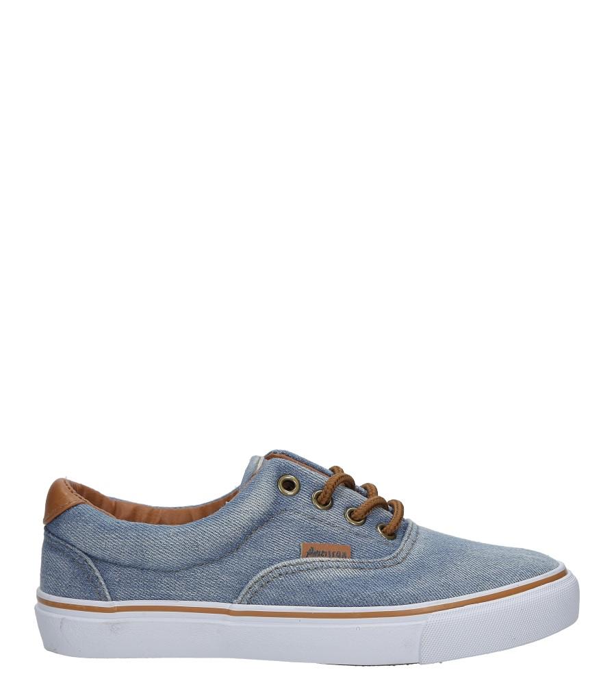 Niebieskie trampki jeansowe sznurowane American LH-18-NJ04-3/4 jasny niebieski