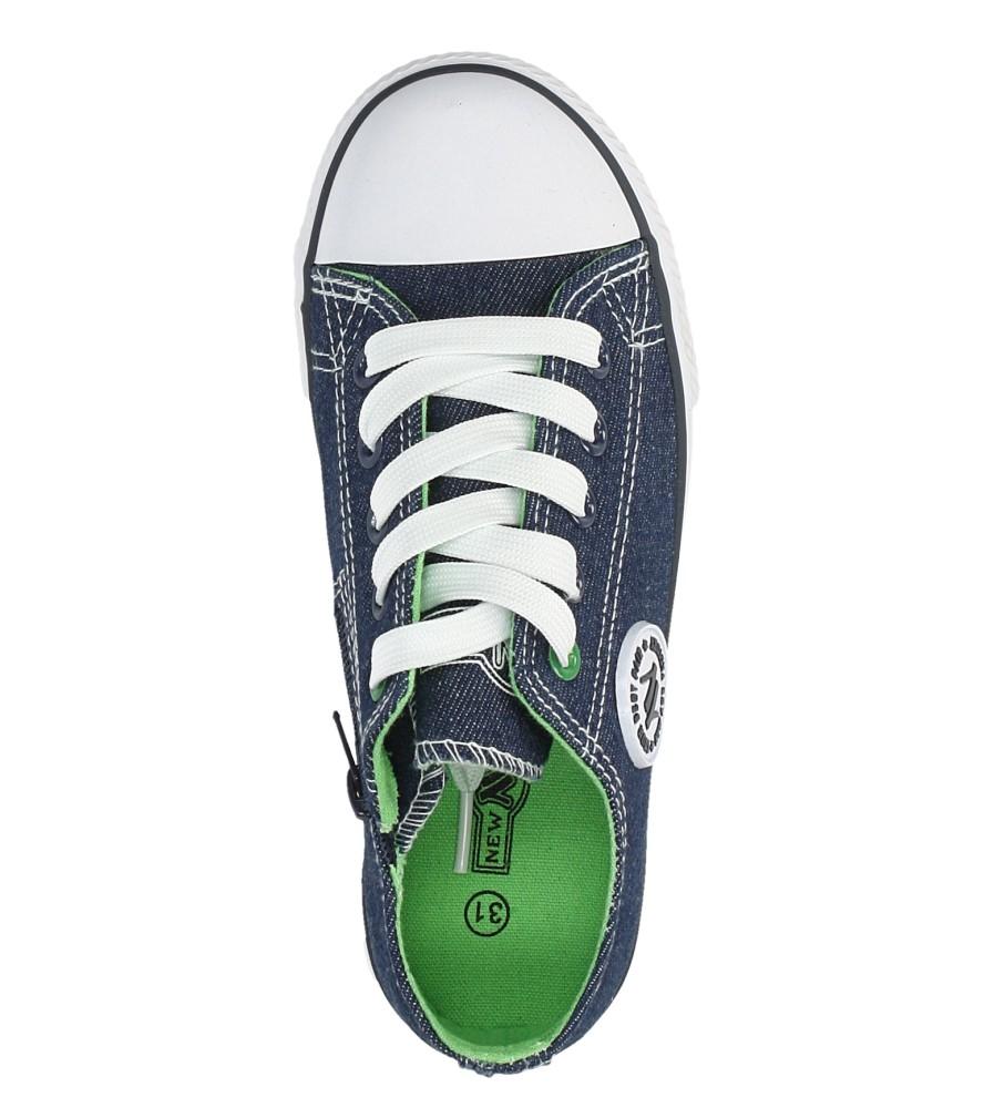Niebieskie trampki jeansowe sznurowane Casu 083K wysokosc_platformy 2.5 cm