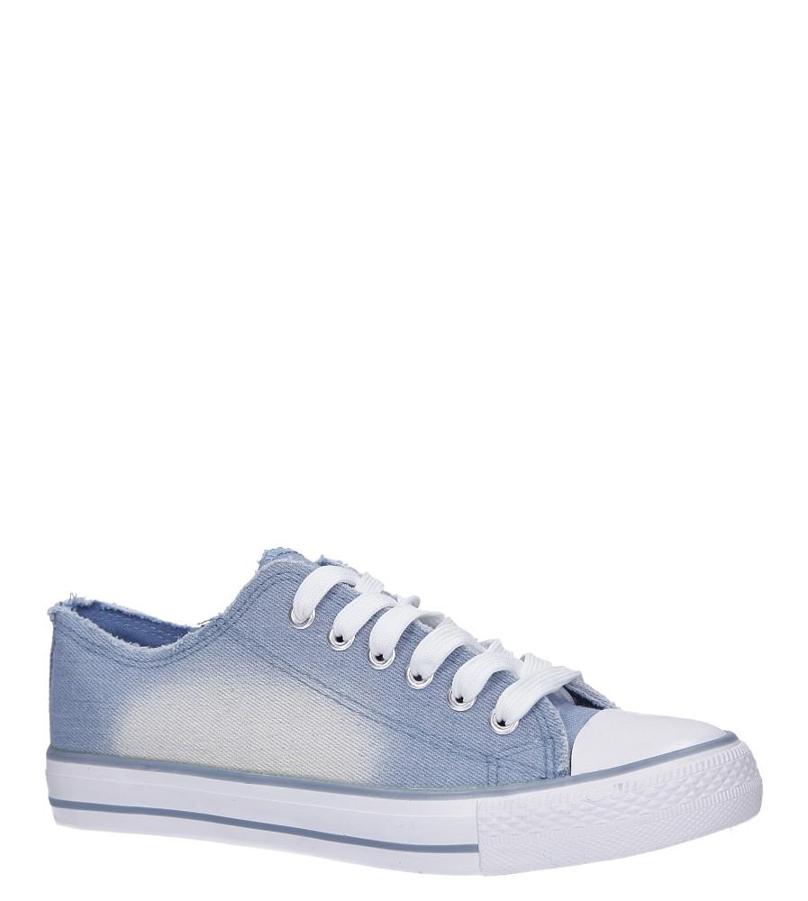 Niebieskie trampki jeansowe sznurowane Casu DD8239-5 jasny niebieski